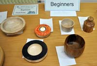 Woodturning competition entries