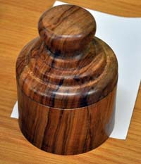 Turned wooden box